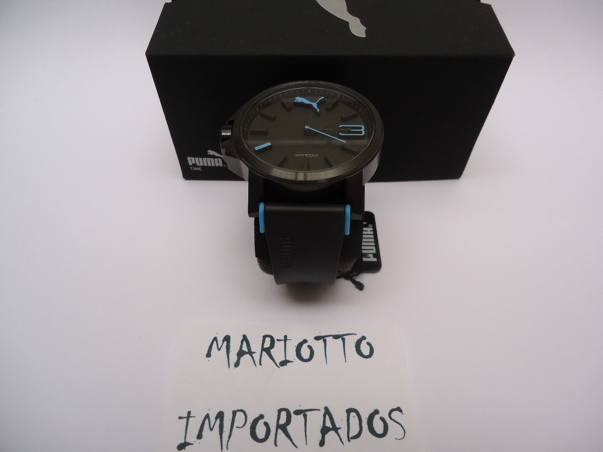8644e37ef00 relógio puma ultrasize azul - pronta entrega + brinde. Carregando zoom.