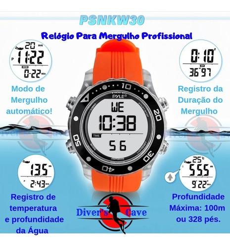 relógio pyle de mergulho profissional waterproof laranja