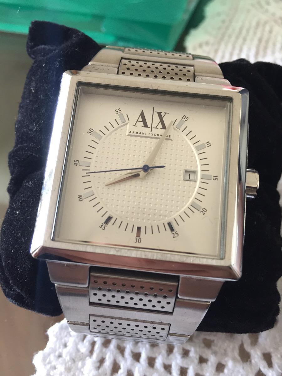 b068fa175a7 relógio quadrado armani exchange ax lindo. Carregando zoom.