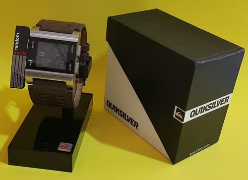 relógio quadrado quiksilver puls. couro original cód. mo29al
