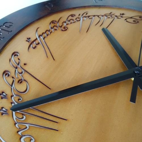 relógio quadro one ring to rule them all - senhor dos anéis