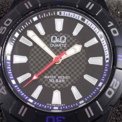 relógio quartz mariner q&q maq citizen wr100 42mm gw36j009y