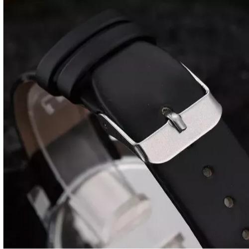 relógio quartz pulseira de couro luxo preta barato feminino
