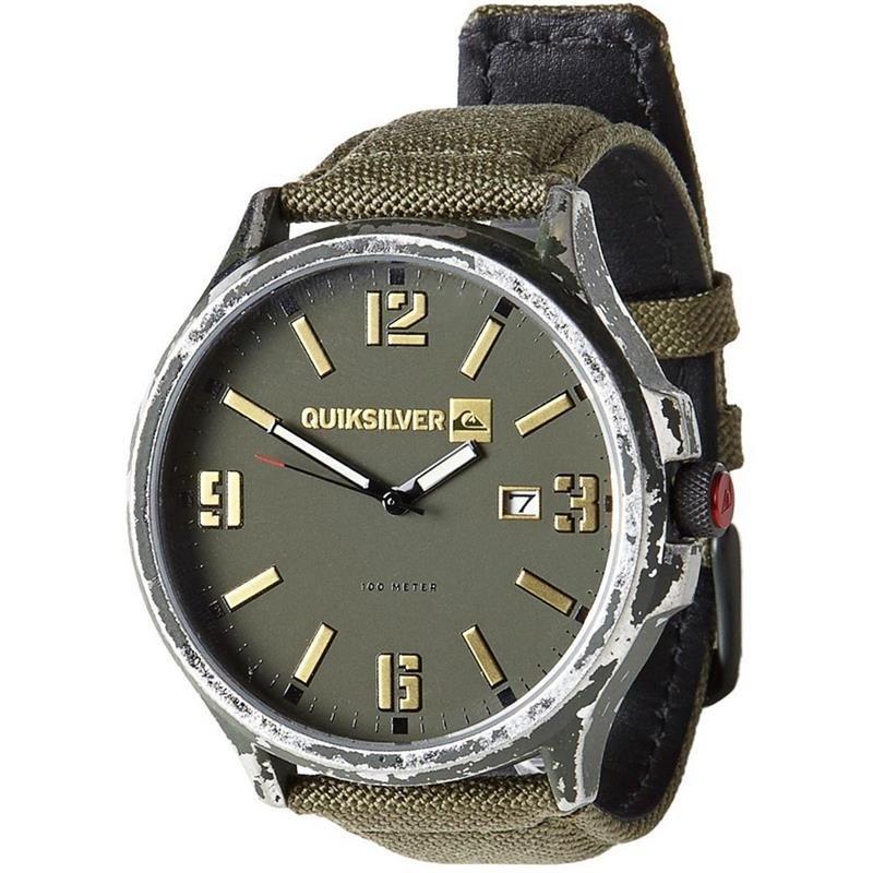 4b24689e6b3 relógio quiksilver beluka canvas importado army. Carregando zoom.