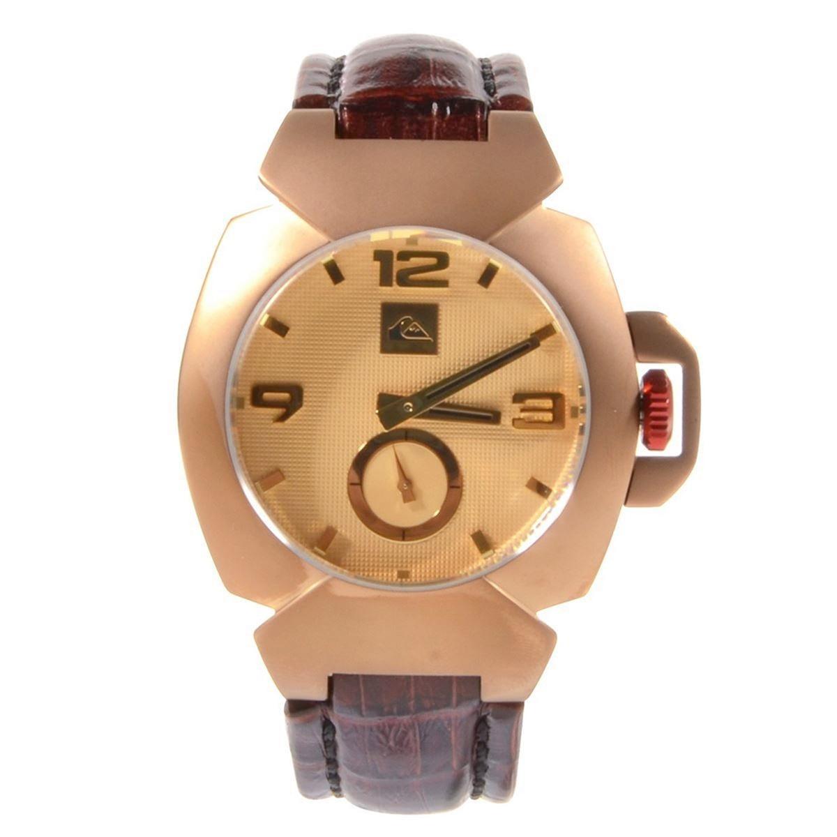 850c7de2f10 relógio quiksilver foxhound leather cooper dourado. Carregando zoom.