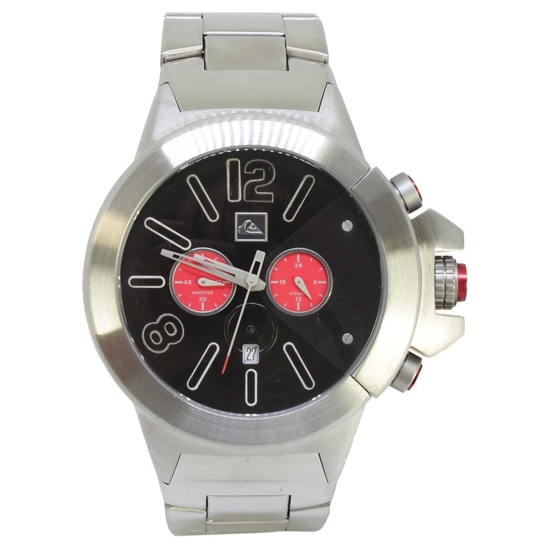 5ce245fa67e relógio quiksilver kaspian silver black. Carregando zoom.