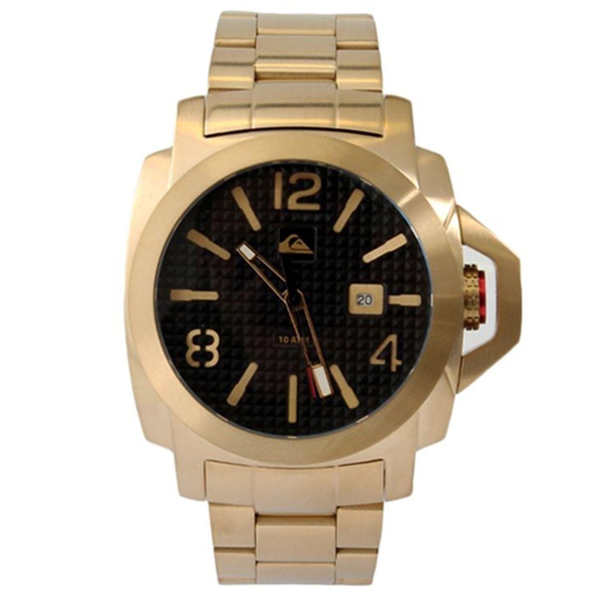 eb3afa37941 relógio quiksilver lanai ss metal gold. Carregando zoom.