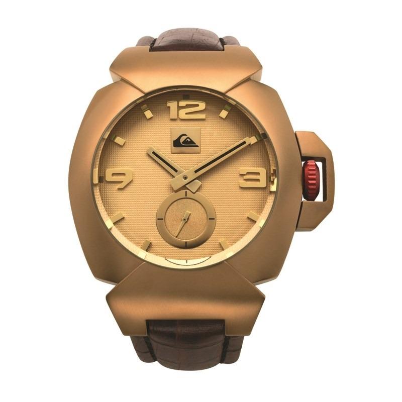 d593cbd820e relógio quiksilver the foxhound leather dourado. Carregando zoom.