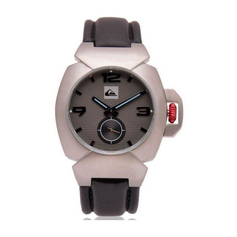 3b82d6e649bcd relógio quiksilver the foxhound leather silver. Carregando zoom.