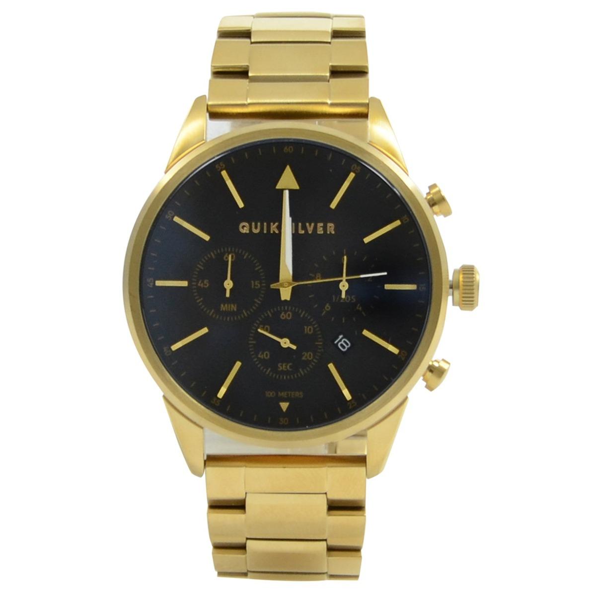 6fd99f2a9fd8a relógio quiksilver the time box chrono metal dourado. Carregando zoom.