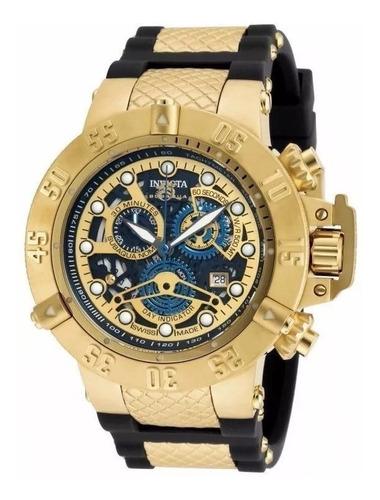 relógio r0009 invicta subaqua 18526 gold noma 3 + caixa