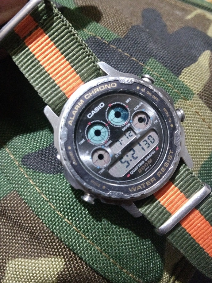 9c0b73e8947 Relógio Raro Casio Quattro Graph Dw-7300 - R  300