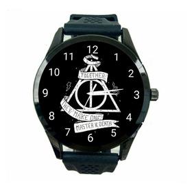 Relógio Reliquias Da Morte Unissex Hp Harry Potter Novo T194