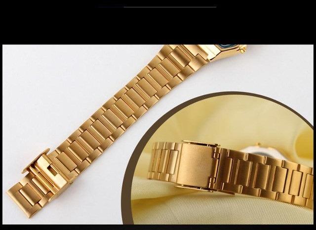 ac105cd20c9 Relógio Retro Feminino Skmei Digital 1123 Dourado Luxo - R  79