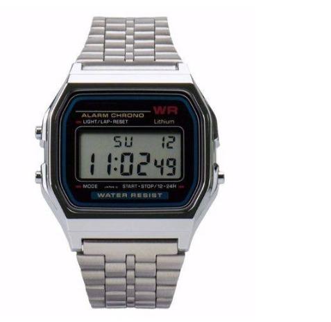 5eab2f592f0 Relógio Retro Prata Digital Unisex Varejo À Preço Atacado. - R  19 ...