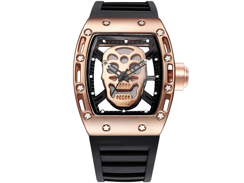 54566bb5aca relógio richard mille skull masculino caveira cobre. Carregando zoom.