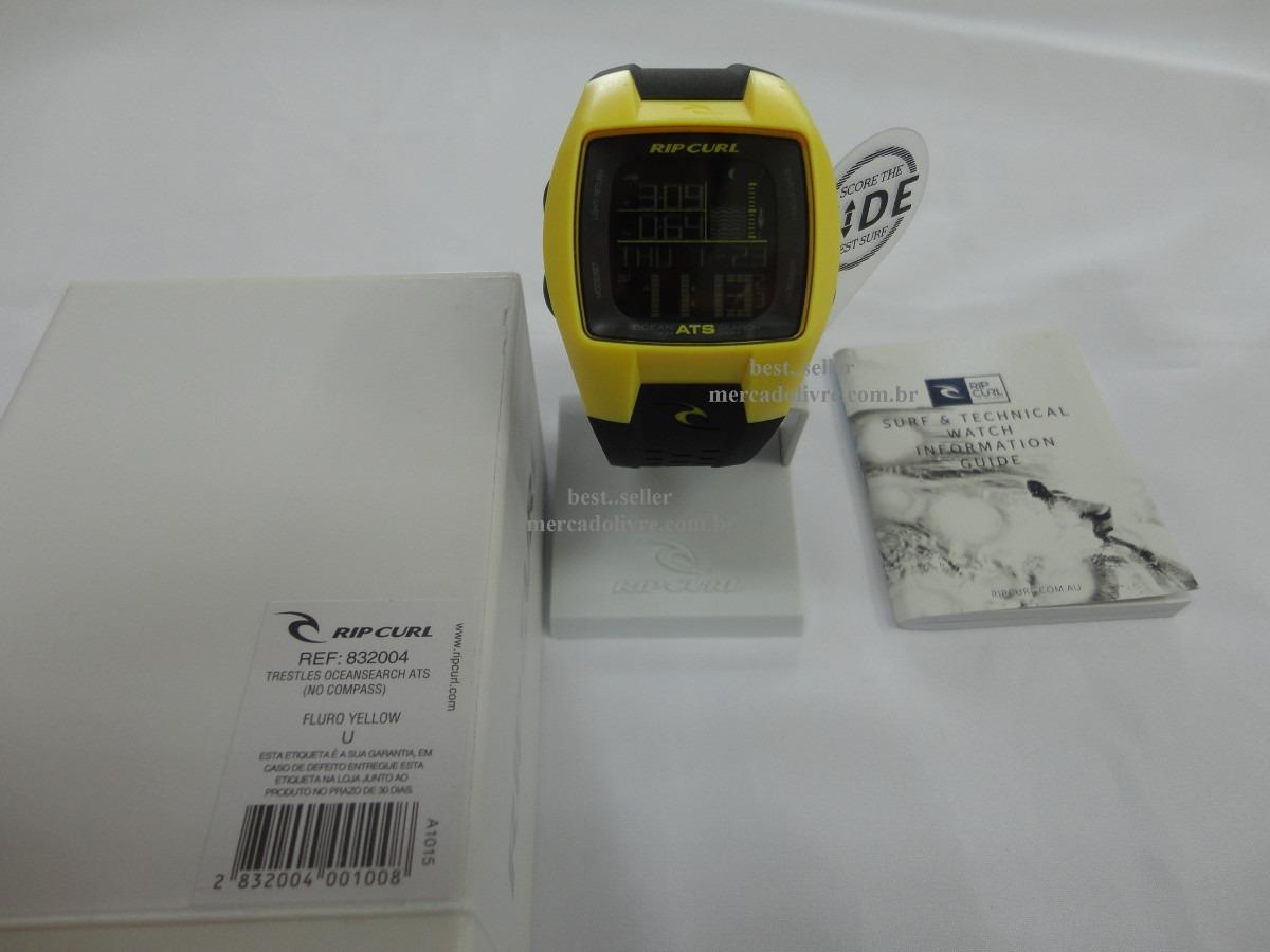 904eff40edf Relógio Rip Curl Trestles Fluro Yellow      Frete Grátis - R  704