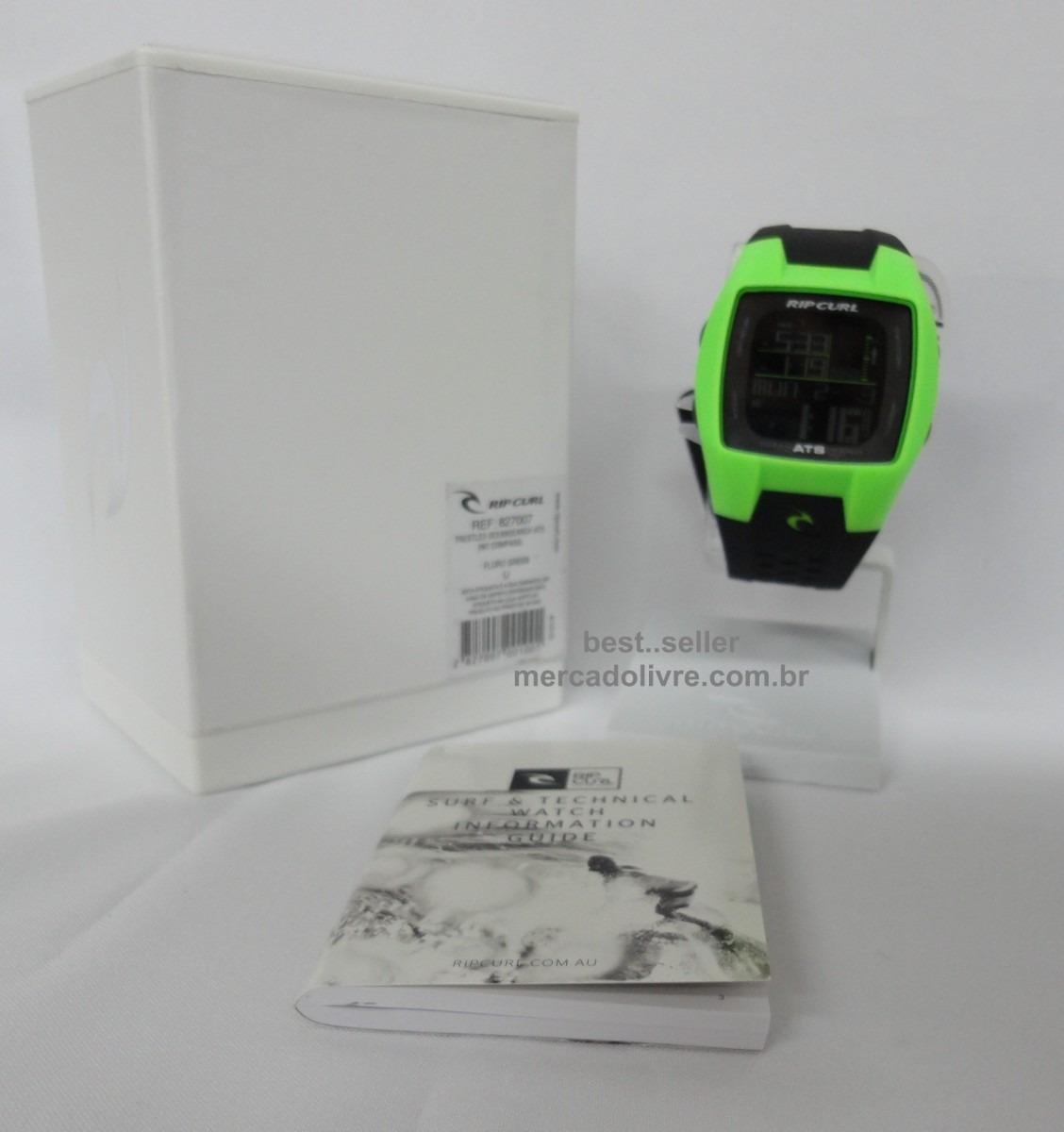 0e83e1c02bd Relógio Rip Curl Trestles Fluro Green      Frete Grátis - R  770