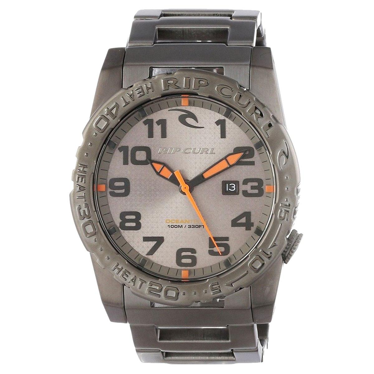 6ca09fd3e45 Relógio Rip Curl Cortez 2 Xl Sss Gun Metal A2505. Analógic - R  895 ...