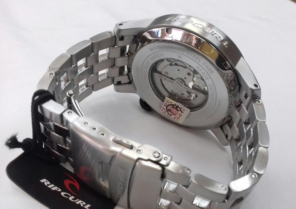 46e6f982582 Relógio Rip Curl Detroit Automatic Black Preto - R  2.399