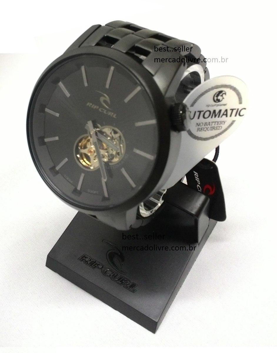 ed906973657 Relógio Rip Curl Detroit Automatic Midnight Black Preto 2507 - R ...