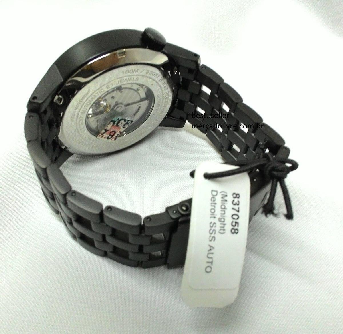 5273f91fbc6 Relógio Rip Curl Detroit Automatic Midnight Black Preto 2507 - R ...