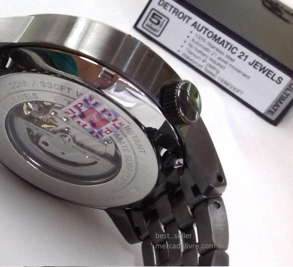 d546cf3d97d Relógio Rip Curl Detroit Automatico Gun Metal Auto - R  2.099