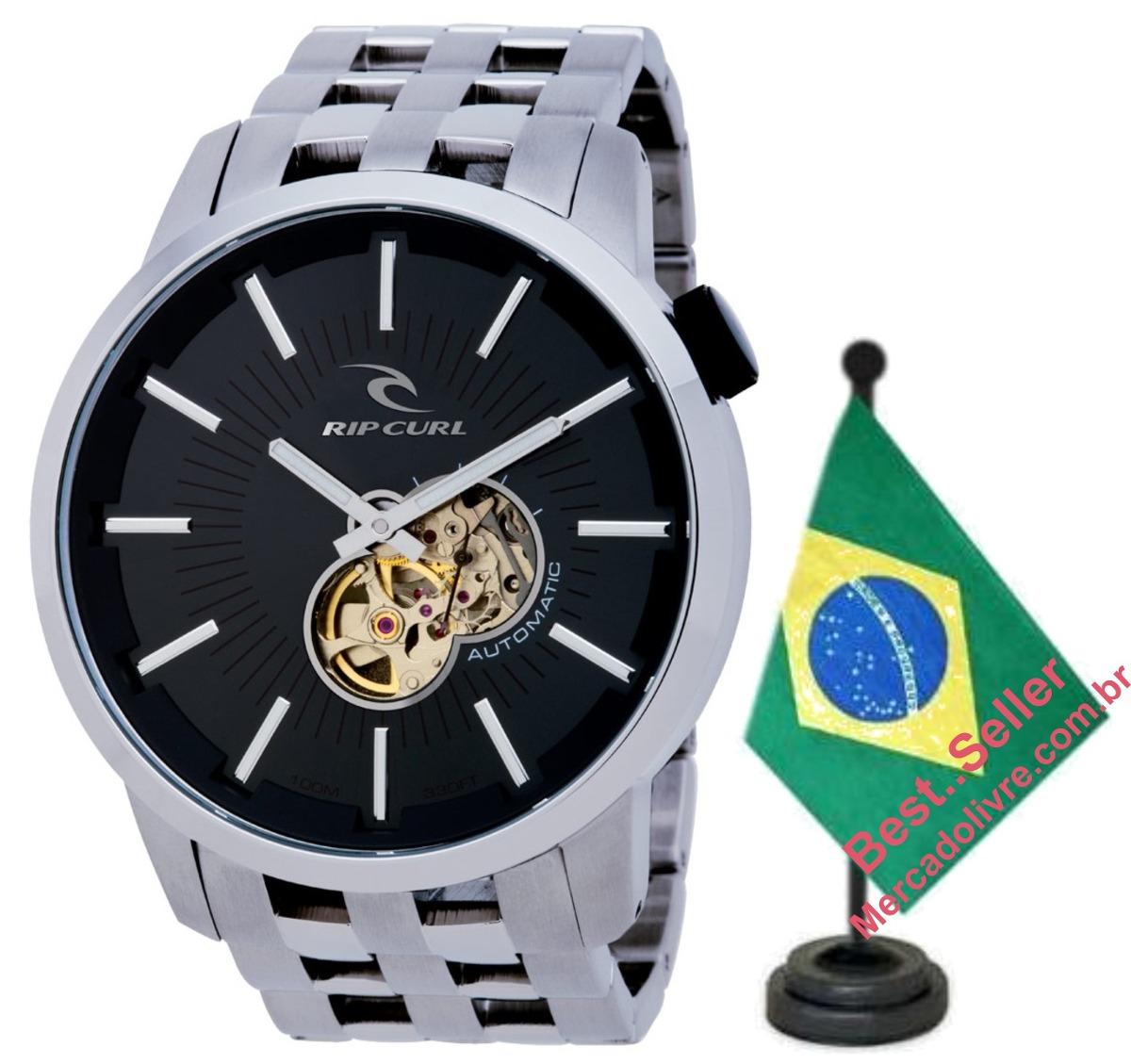 a8aa3e56a7b relógio rip curl detroit automatic black preto. Carregando zoom.