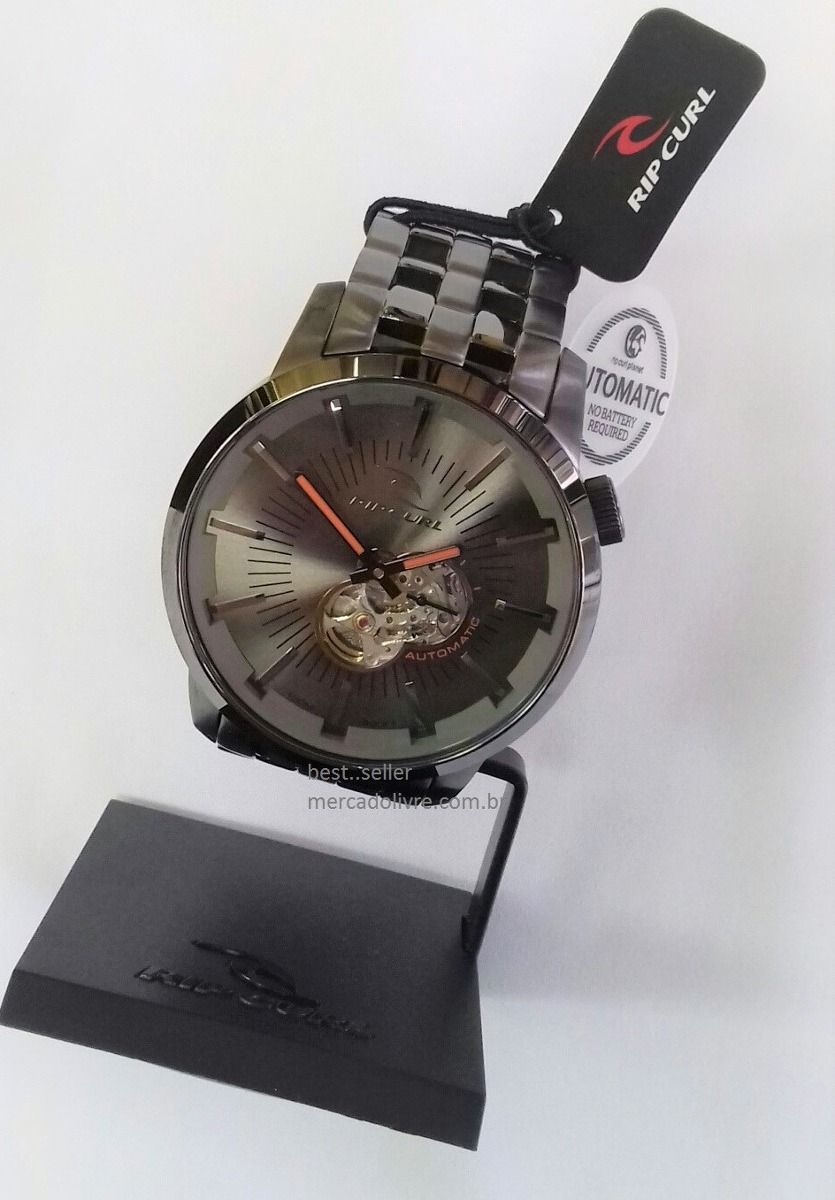 05661d2a211 relógio rip curl detroit automatico gun metal auto. Carregando zoom.
