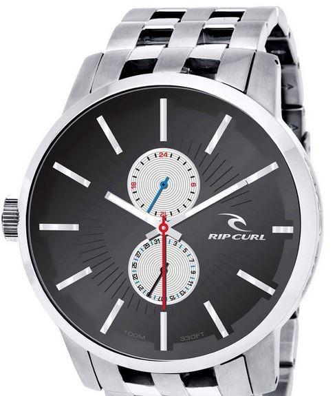 999649894 Relógio Rip Curl Detroit D24 Sss Black Aço Inox - R  1.199