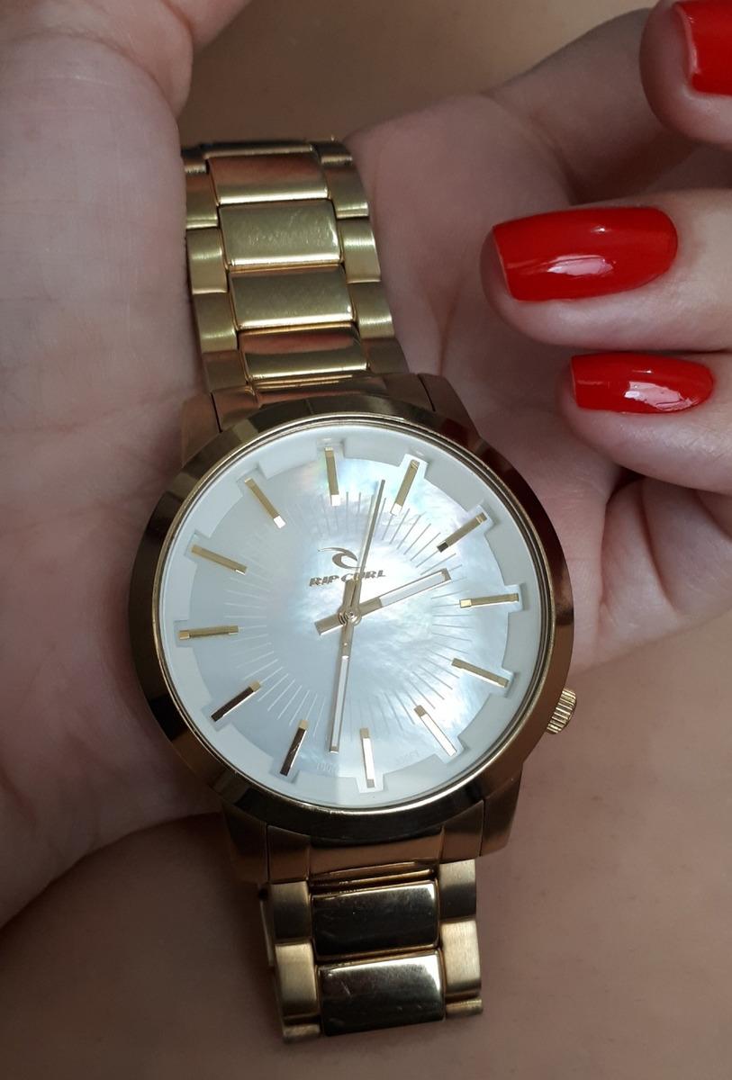 69d48a25aba relógio rip curl detroit dourado a2561g feminino usado. Carregando zoom.