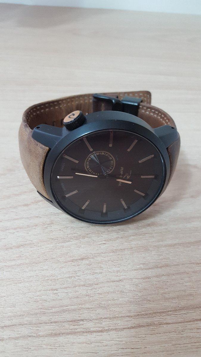 85ea9bbc0 relógio rip curl detroit leather midnight tan couro lth. Carregando zoom.