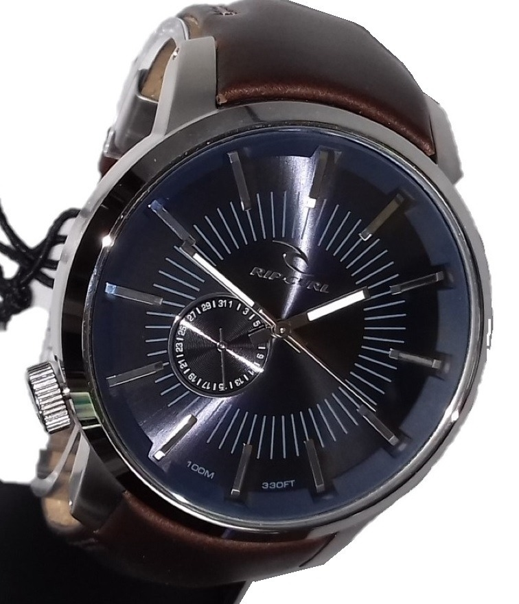 b8f8634ba relógio rip curl detroit leather navy couro azul marrom lth. Carregando zoom .