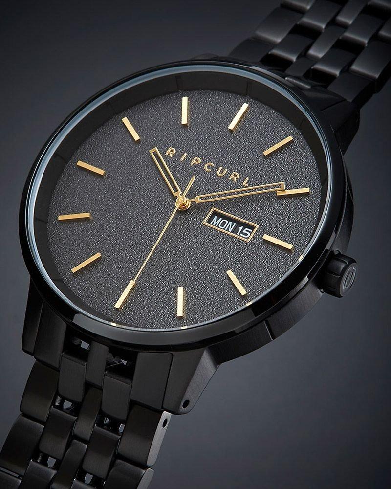 bacde63b5b8 relógio rip curl detroit midnight sss analógico - black gold. Carregando  zoom.
