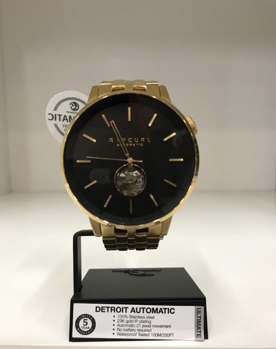 f618ca130a8 relógio rip curl detroit sss automatic dourado original. Carregando zoom.