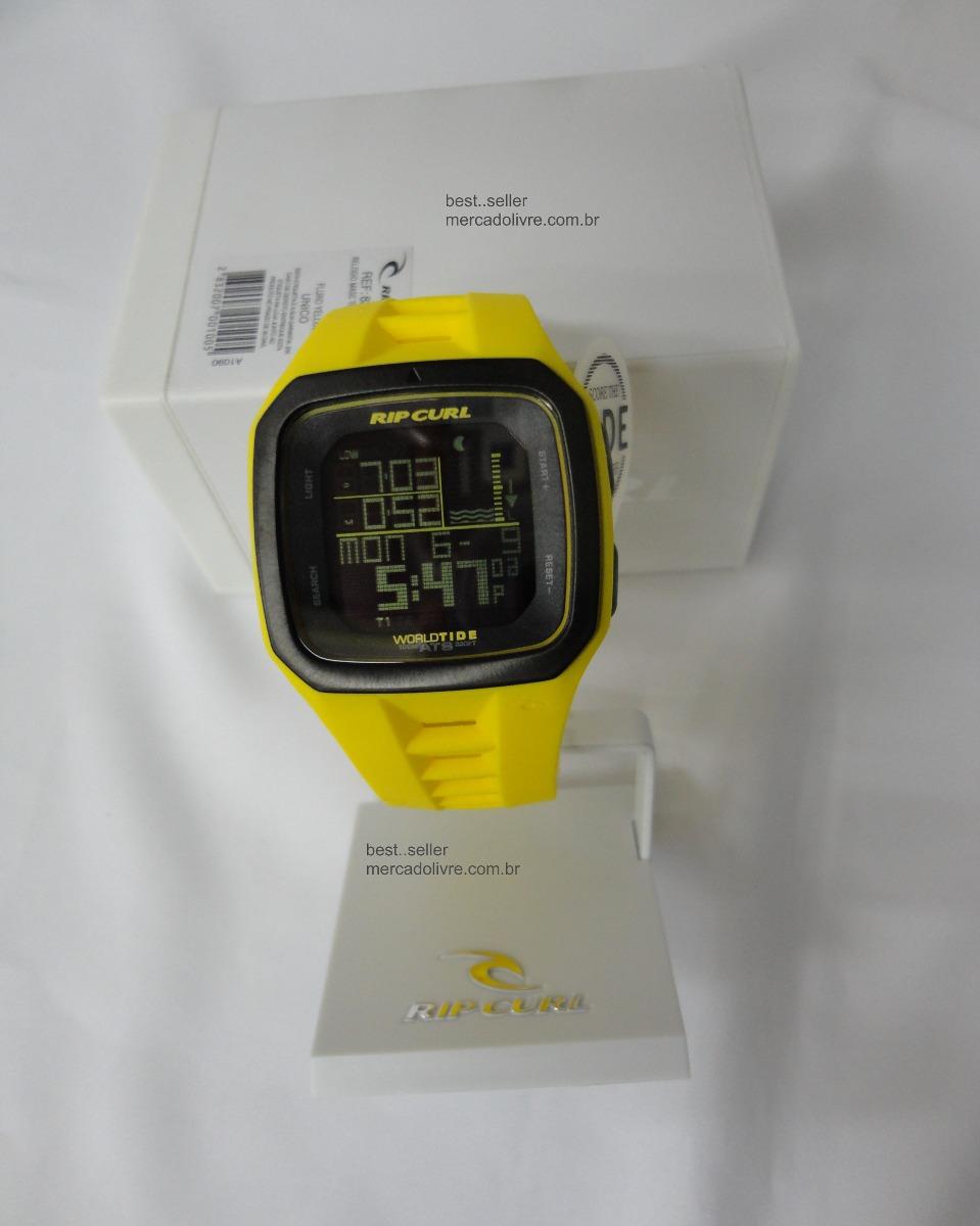 07902337410 relógio rip curl trestles pro yellow     frete gratis. Carregando zoom.