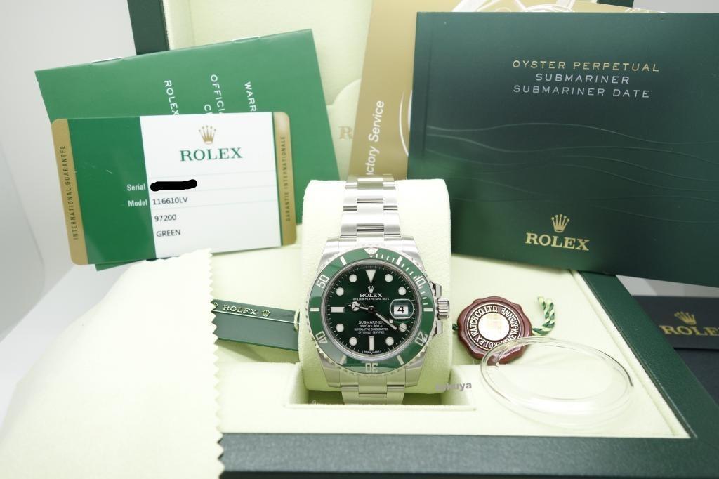 e7fe9154dd0 relogio rolex 116610lv submariner green dial original novo. Carregando zoom.