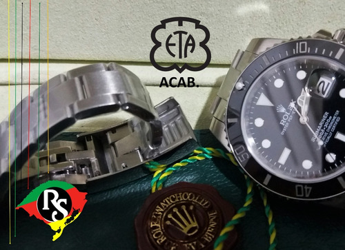 afcdfad1ec1 Relogio Rolex Acab Eta Submariner Safira Preto V7 Top Lxrs - R  749 ...