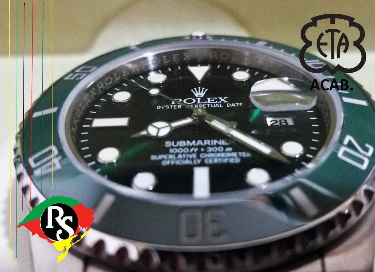 36f8fa5eaf5 relogio rolex acab eta submariner top v7 ceramica verde lxrs. Carregando  zoom.