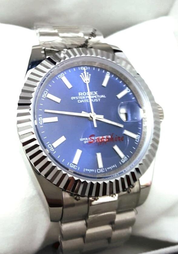 2c553767a6b relógio rolex day date azul. Carregando zoom.