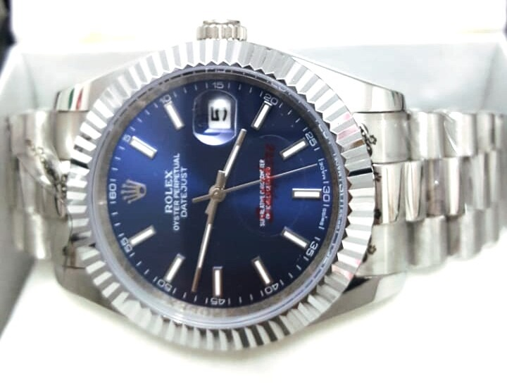 45c0d9fe805 Relógio Rolex Day Date Azul - R  460