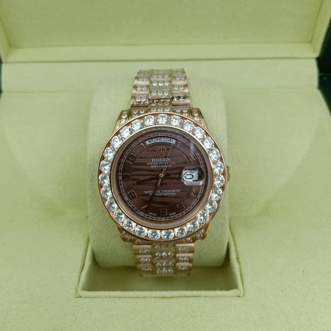 848a61f1715 relógio rolex day-date presidente cravejado gold. Carregando zoom.