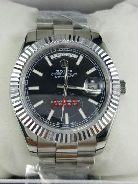 64664ede165 Relógio Rolex Day Date Preto - R  490