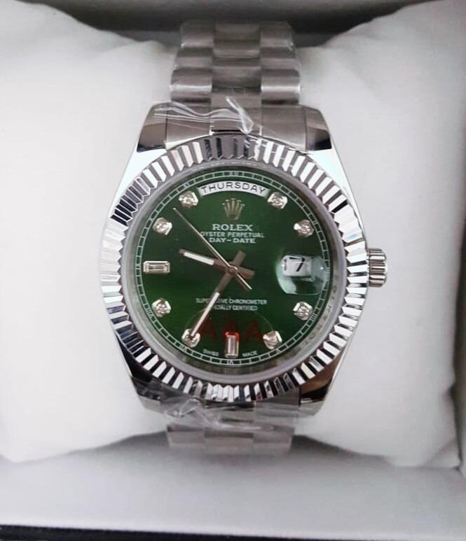 719728acb9a Relógio Rolex Day Date Verde - R  470