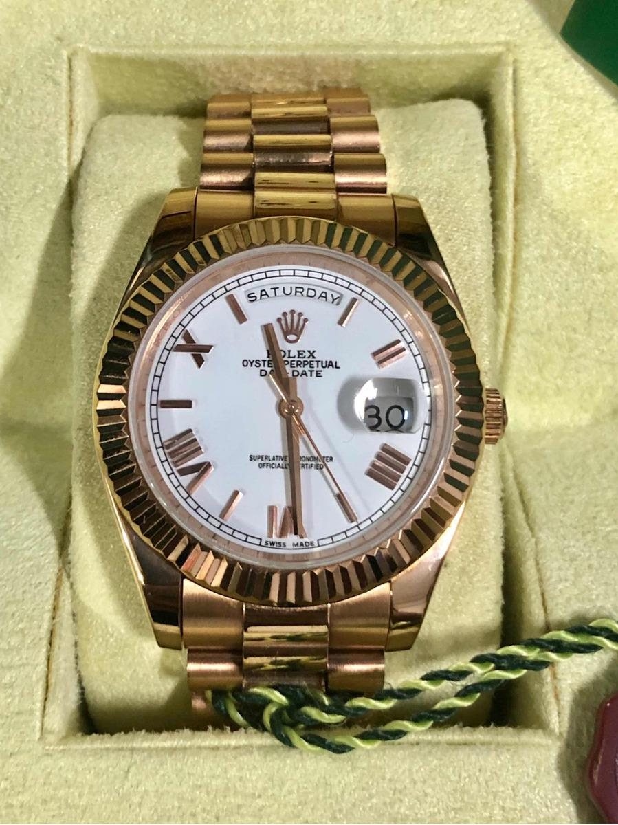 649119f386c relógio rolex daydate presidente ouro rose+caixa e documento. Carregando  zoom.