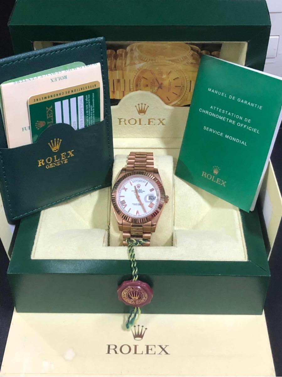 e909a1dfddf relógio rolex daydate presidente ouro rose+caixa e documento. Carregando  zoom.