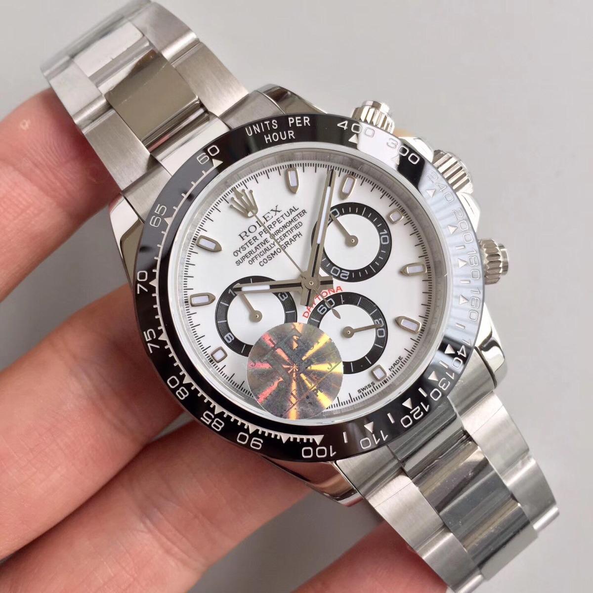 e71186f493e relógio rolex daytona cerâmica maquina eta 7750. Carregando zoom.