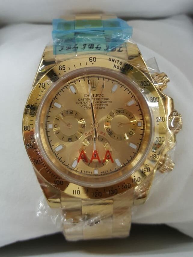7fd128e8a43 relógio rolex daytona dourado. Carregando zoom.