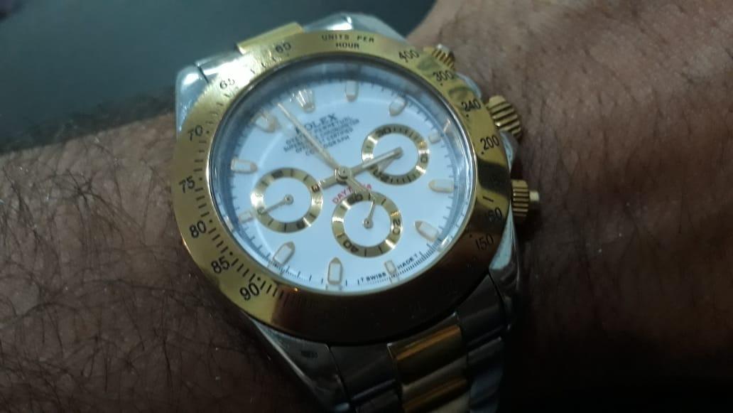 2908dc851d4 relógio rolex daytona modelo a7750 - muito conservado. Carregando zoom.