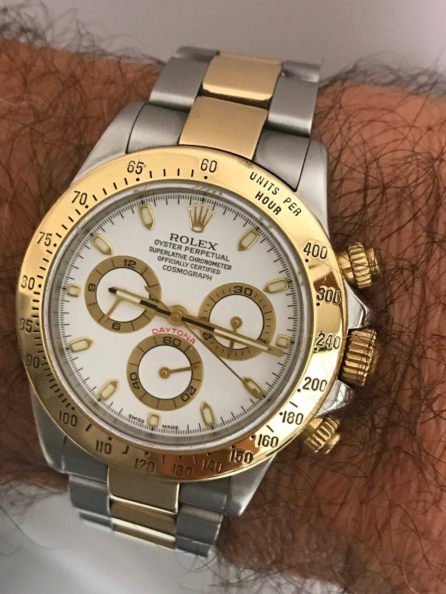 194f6f189c0 relógio rolex daytona ouro e aço. Carregando zoom.